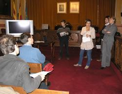 La sessió de treball ha tingut lloc al Saló de Plens de l'Ajuntament