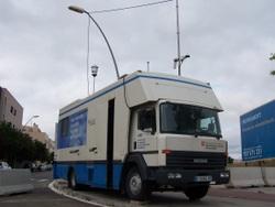 Aquesta és la unitat mòbil que s'ha instal·lat a Vilanova i la Geltrú