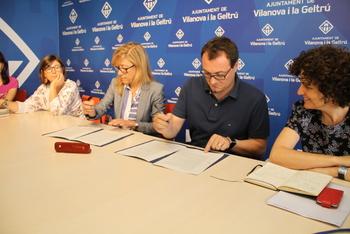 Signatura de l'acord programàtic entre CiU i PSC