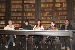 Isabel Pla ha fet la presentació, juntament amb Carles Vicente de la Diputació,Maria Guinovart i les directores del Balaguer