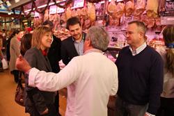 L'alcaldessa, Neus Lloveras, amb el regidor Gerard Figueras
