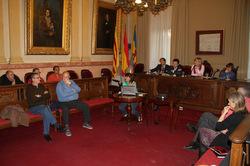 El Consell Municipal es va dur a terme al saló de Plens de l'Ajuntament