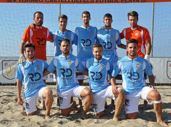 El CF Vilanova és el vigent Campió de Catalunya de Futbol Platja
