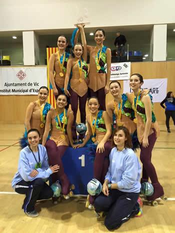 Medalla d'or i primera plaça pel Xou Juvenil del CP Vilanova La Fundació