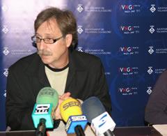 Tomàs Álvaro, en la roda de premsa