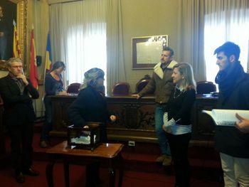 El sorteig s'ha fet al Saló de Plens de l'Ajuntament