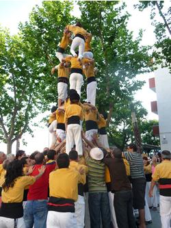 actuació castellera, cloenda català per a pescadors