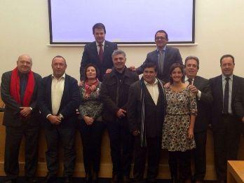 Representants de les Estacions Nàutiques de Catalunya ahir a Madrid