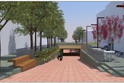 La millora del pas sota la via contempla la urbanització dels carrers de Forn del Vidre i de l'Àncora