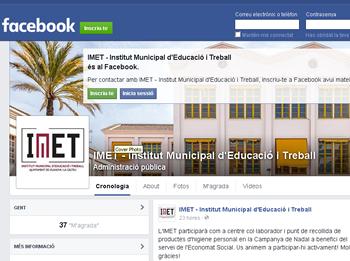 L'IMET ja té perfil a Facebook i a Twitter