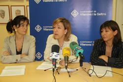 Ariadna Llorens, Neus Lloveras i Glòria Garcia, aquest matí