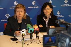 L'alcaldessa, Neus Lloveras, i la primera tinenta d'alcaldia, Ariadna Llorens