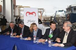 Presentació de la campanya 'Gamba de Vilanova', a la Llotja del peix