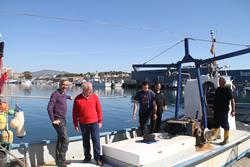 Juan Echanove i Imanol Arias a l'embarcació