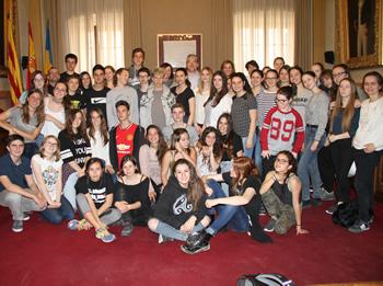 El regidor Joan Martorell ha rebut els alumnes alemanys i vilanovins