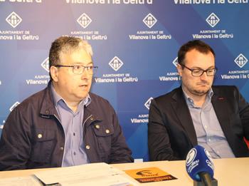 Joan Martorell i Juan Luís Ruiz en la roda de premsa de Govern
