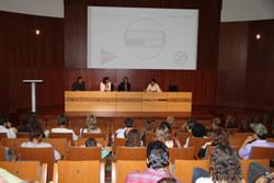 L'auditori de Neàpolis durant la presentació de la nova escola de cinema