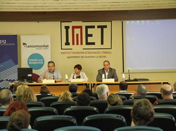 Joan Martorell, Rosa Huguet i Francesc Güell han obert la jornada