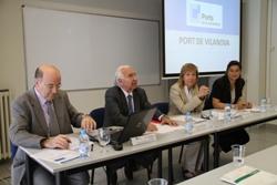 Moment de la jornada de promoció del port de Vilanova i la Geltrú a Lleida