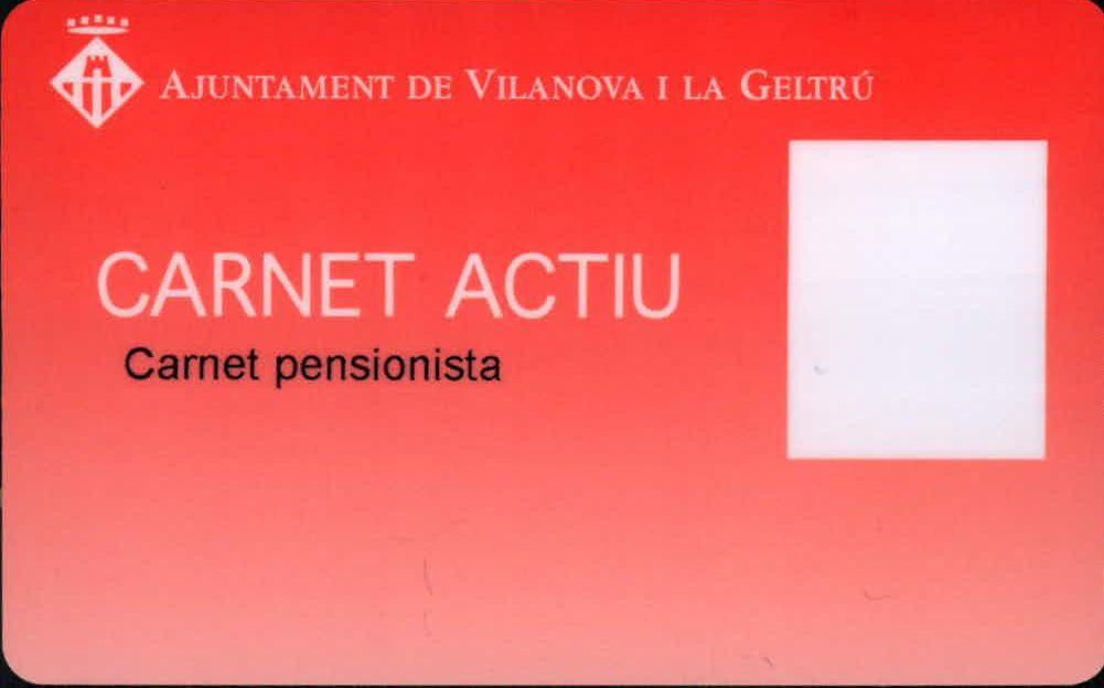 Carnet Actiu. Carnet de pensionista