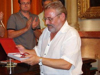 Esteve Orriols, en el seu darrer Ple a l'Ajuntament, l'any 2008