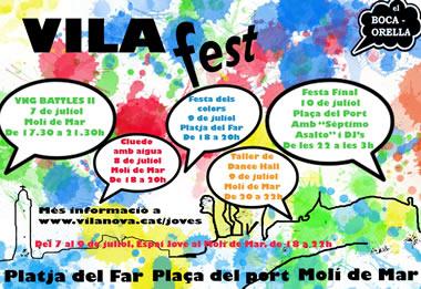 El Vilafest se celebra del 7 al 10 de juliol