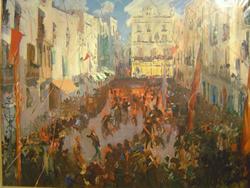 'Les Comparses de Vilanova' , a la plaça de les Cols, 1925-1926