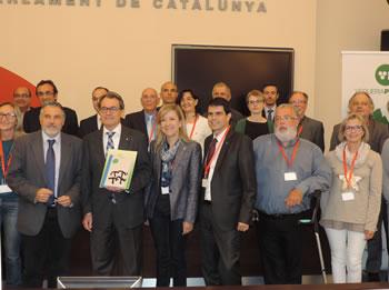 El president, Artur Mas, amb els representants polítics i agents econòmics i socials de la Vegueria Penedès