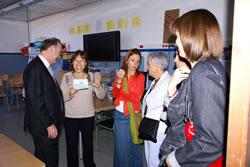 El nou director de Serveis Territorials i la regidora d'Educació visiten el CEIP Sant Jordi