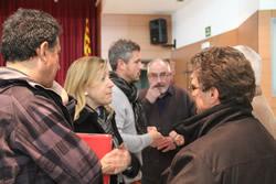 Neus Lloveras amb alguns dels participants a la trobada