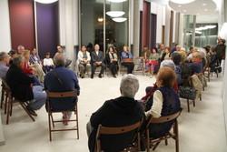 La trobada amb l'alcaldessa, a l'auditori Eduard Toldrà