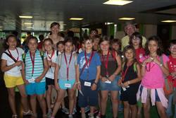 Alumnes de l'Escola Ginesta durant la visita al Saló