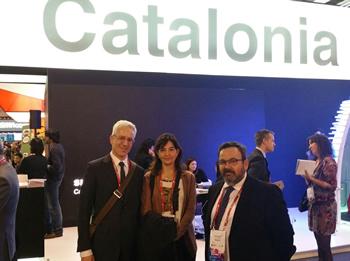 D'esquerra a dreta: Jordi Grau, Ariadna Llorens i Joan Carles Lluch