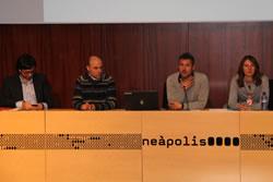 El regidor Joan Giribet amb representants del projecte GECODIT