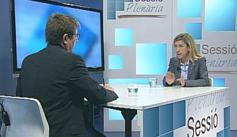 Neus Lloveras, entrevistada al Sessió Plenària