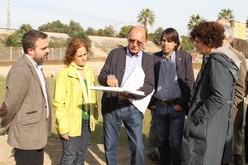El diputat d'Urbanisme i Habitatge va visitar el jaciment amb la regidora de Cultura