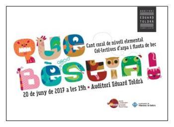 La cantata 'Que bèstia' es farà dimarts 20 de juny
