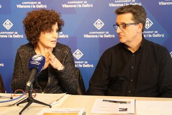 Teresa Llorens i Eduard Bertran van presentar la mostra als mitjans de comunicació