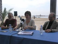 Òscar Estruga, Isabel Pla i José Corredor-Matheos