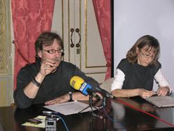Tomàs Álvaro i Anna Punyet, a la presentació d'aquest matí