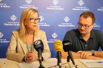 L'alcaldessa, Neus Lloveras i el portaveu del Govern, Juan Luís Ruiz