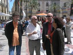 Joan Manuel Tresseras, diumenge a la pl. de la Vila