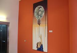 El mural, penjat al c. de Josep Llanza, 1-7
