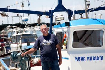El pescador vilanoví s'endú el premi d'àmbit local. Foto: Judit Contreras
