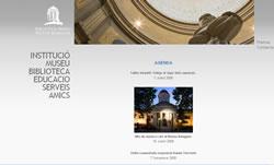 Portada de la pàgina web de la Biblioteca Museu