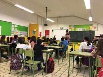 Sessió aquesta setmana a l'escola Pompeu Fabra