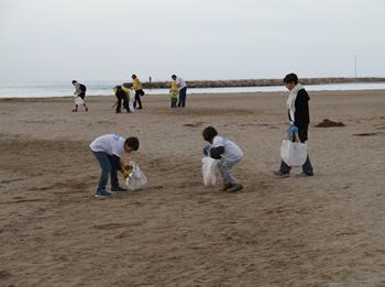 L'any passat la neteja es va fer a la platja Llarga