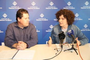La regidora de Cultura, Teresa Llorens, i Jordi Paulí van presentar a la premsa les línies generals d'aquesta edició
