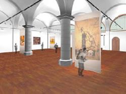 Imatge virtual de la reforma de la sala de les voltes, que es pot visitar avui