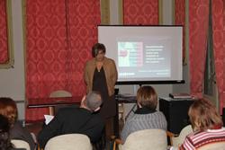 Marisa Soleto, directora de Fundación Mujeres, va ser l'encarregada de dur a terme la xerrada